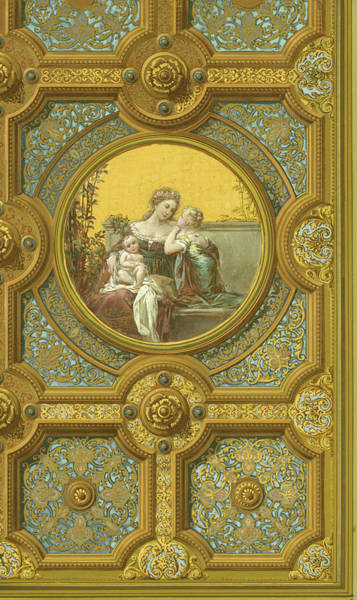 Painting - Ceiling Of Rear Hall, Kemble Residence by George Herzog