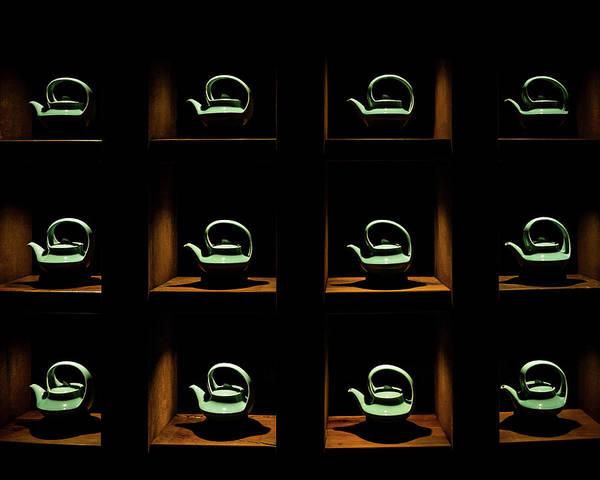 Photograph - Celadon Tea Pots by William Dickman