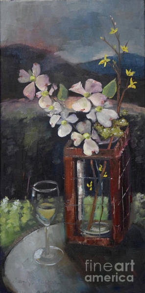 Painting - Celebrating Beauty -ott Farms And Vineyard -quick Draw Competition by Jan Dappen