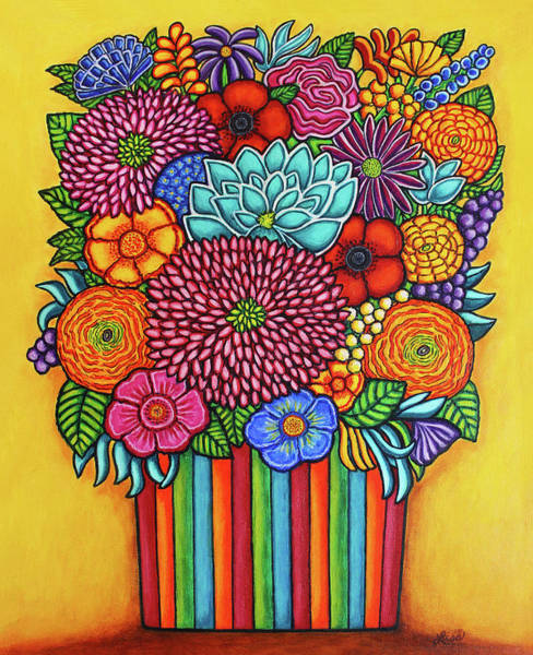 Painting - Celebration Bouquet by Lisa Lorenz