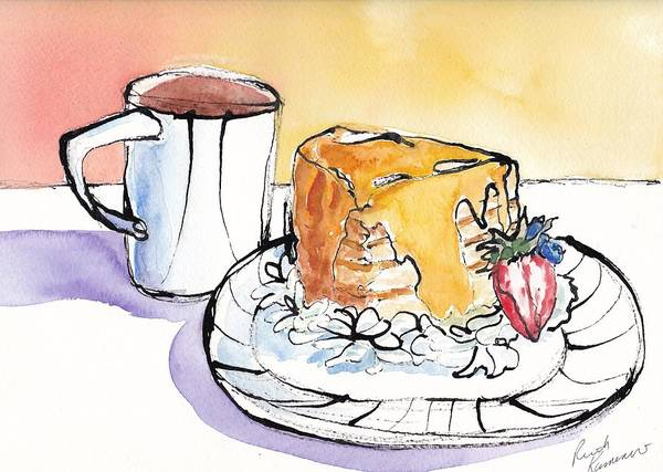 Painting - Celebration Cake by Ruth Kamenev
