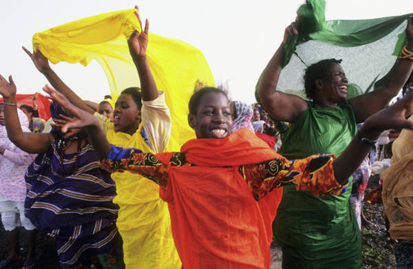 Wall Art - Photograph - Celebration Party, Mauritania. Banc by Eco Images