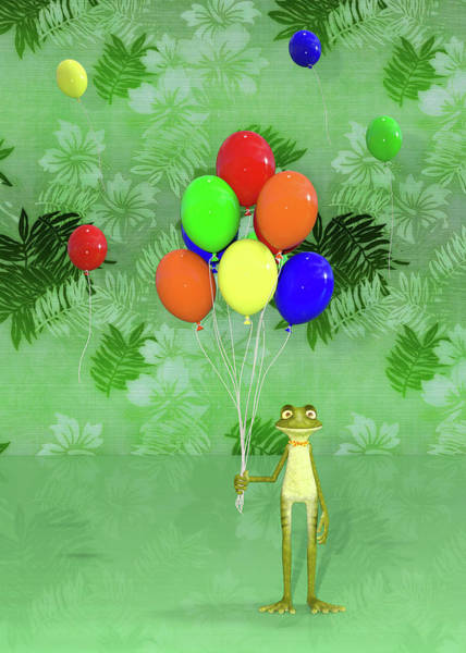 Wall Art - Digital Art - Celebration With Frog by Betsy Knapp