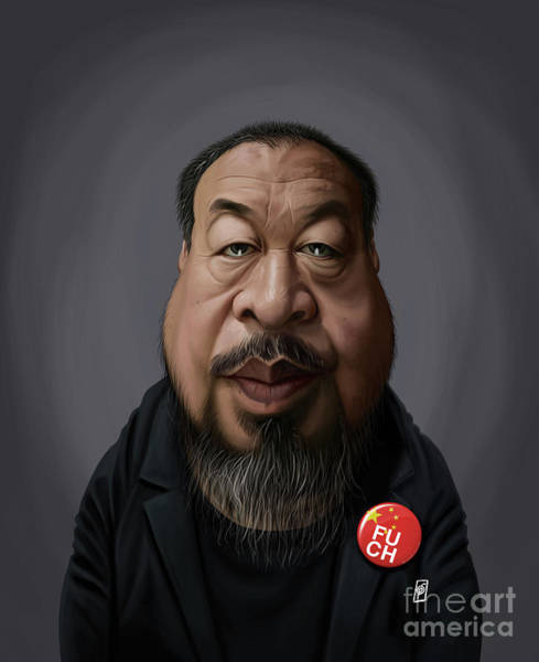Digital Art - Celebrity Sunday - Ai Weiwei by Rob Snow