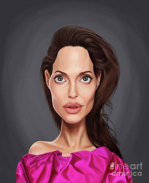 Digital Art - Celebrity Sunday - Angelina Jolie by Rob Snow