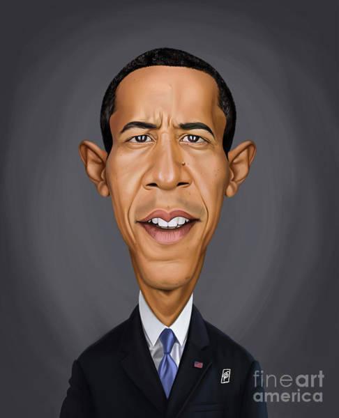 Digital Art - Celebrity Sunday - Barack Obama by Rob Snow