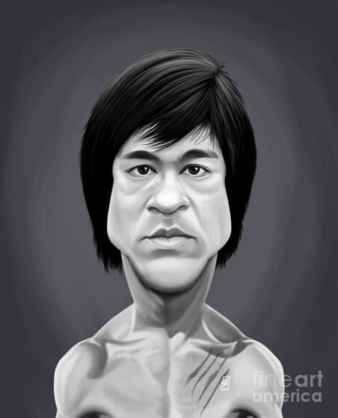 Digital Art - Celebrity Sunday - Bruce Lee by Rob Snow