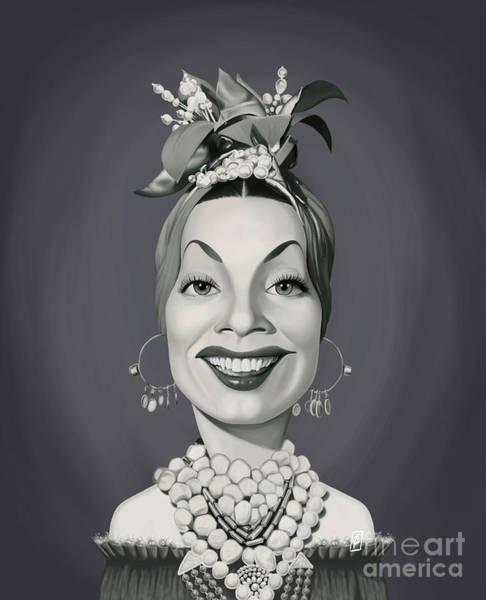 Digital Art - Celebrity Sunday - Carmen Miranda by Rob Snow