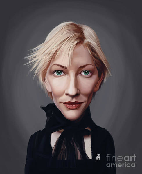 Digital Art - Celebrity Sunday - Cate Blanchett by Rob Snow