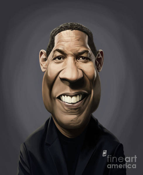 Digital Art - Celebrity Sunday - Denzel Washington by Rob Snow