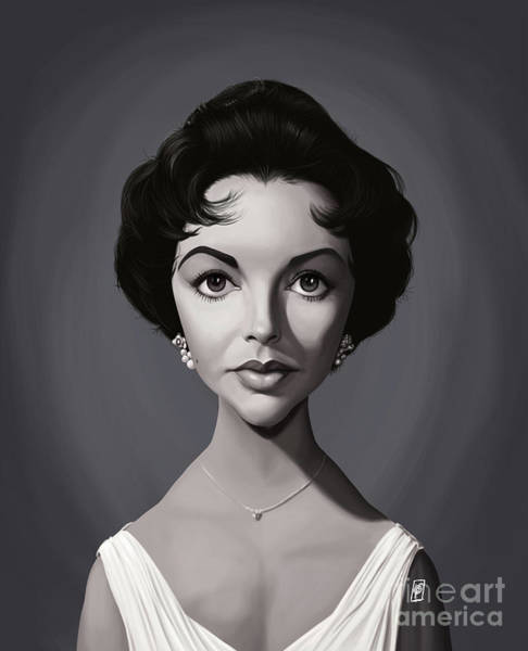 Digital Art - Celebrity Sunday - Elizabeth Taylor by Rob Snow