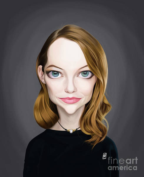 Digital Art - Celebrity Sunday - Emma Stone by Rob Snow