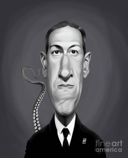Digital Art - Celebrity Sunday - H.p Lovecraft by Rob Snow