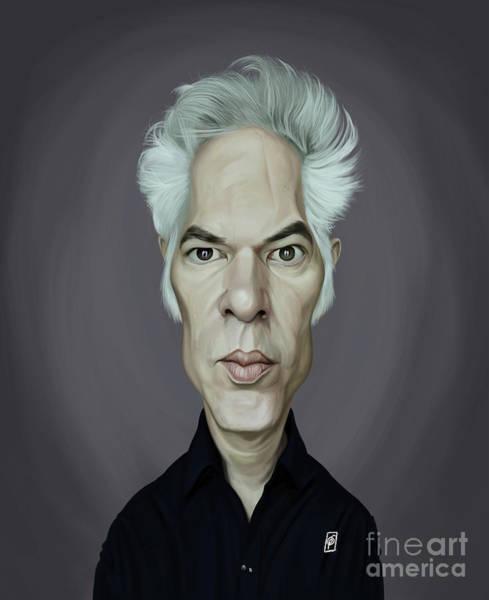 Digital Art - Celebrity Sunday - Jim Jarmusch by Rob Snow