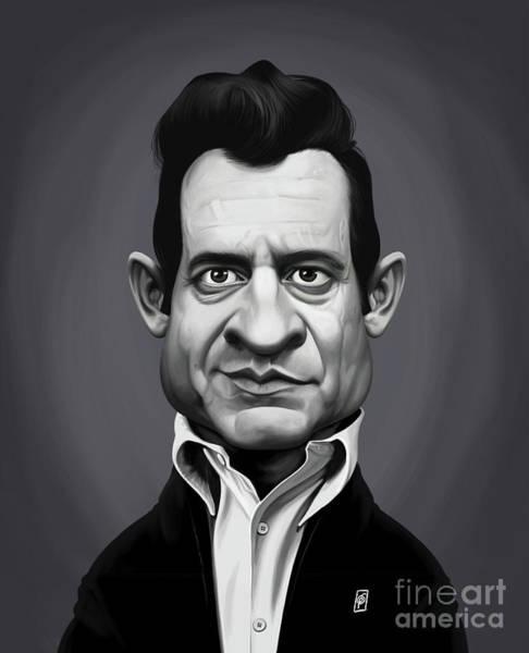 Digital Art - Celebrity Sunday - Johnny Cash by Rob Snow