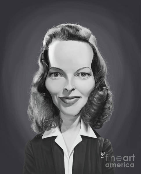 Digital Art - Celebrity Sunday - Katharine Hepburn by Rob Snow