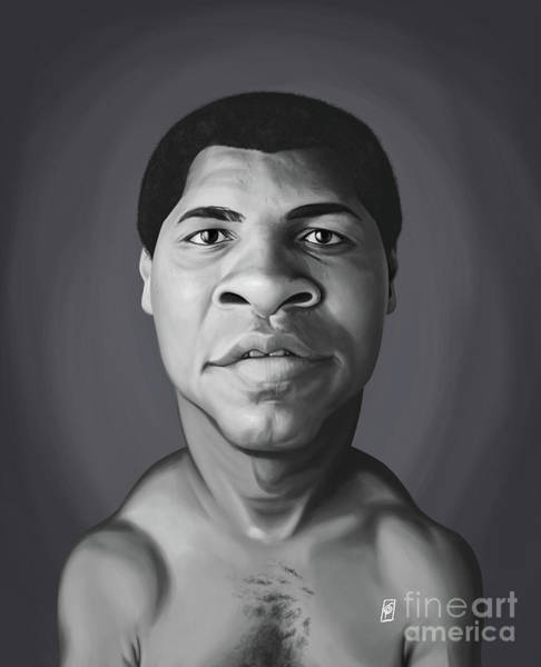 Digital Art - Celebrity Sunday - Muhammad Ali by Rob Snow