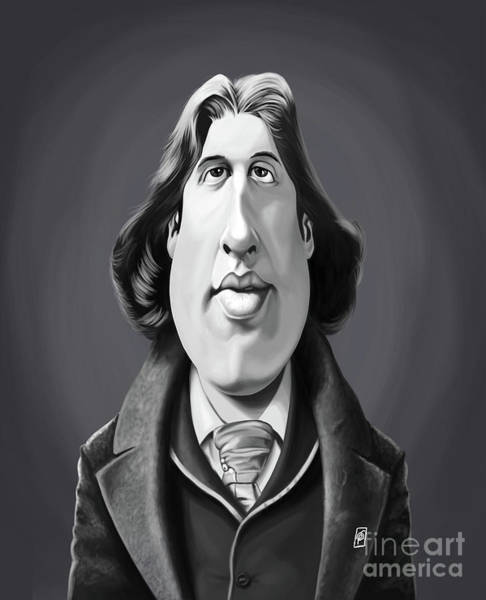 Digital Art - Celebrity Sunday - Oscar Wilde by Rob Snow