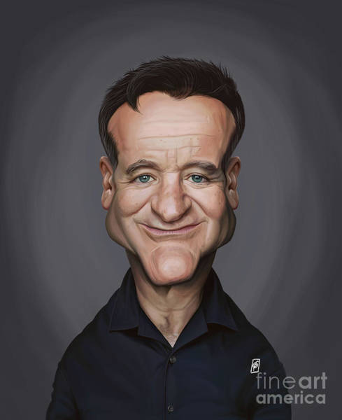 Digital Art - Celebrity Sunday - Robin Williams by Rob Snow