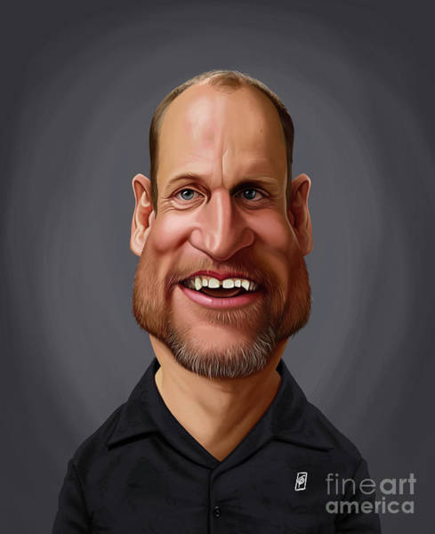 Digital Art - Celebrity Sunday - Woody Harrelson by Rob Snow