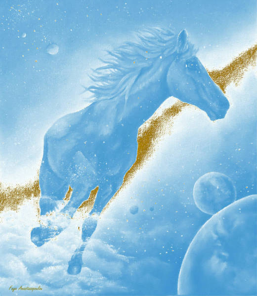 Wall Art - Painting - Celestial Horse by Faye Anastasopoulou