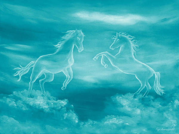Wall Art - Painting - Celestial Horses by Faye Anastasopoulou