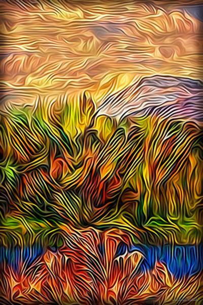 Digital Art - Celestial Lake Reflections by Joel Bruce Wallach