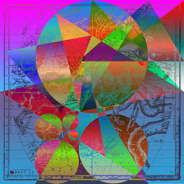 Digital Art - Celestial Phantasmagorias - Map No.1 by Serge Averbukh