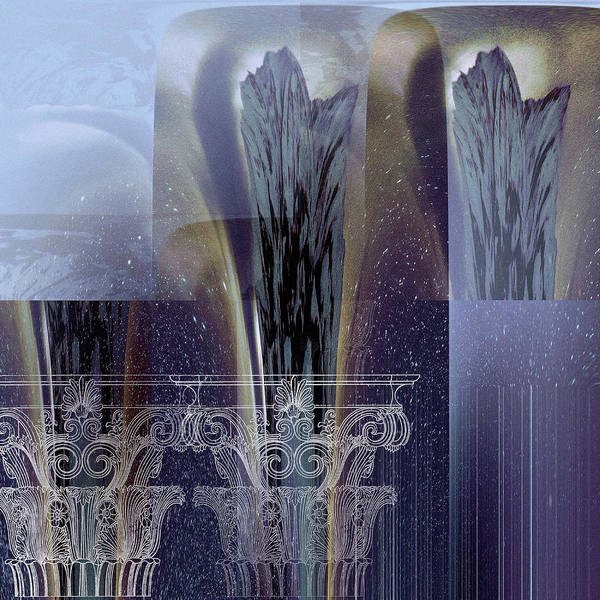Digital Art - Celestial Vase Abstract by Robert G Kernodle