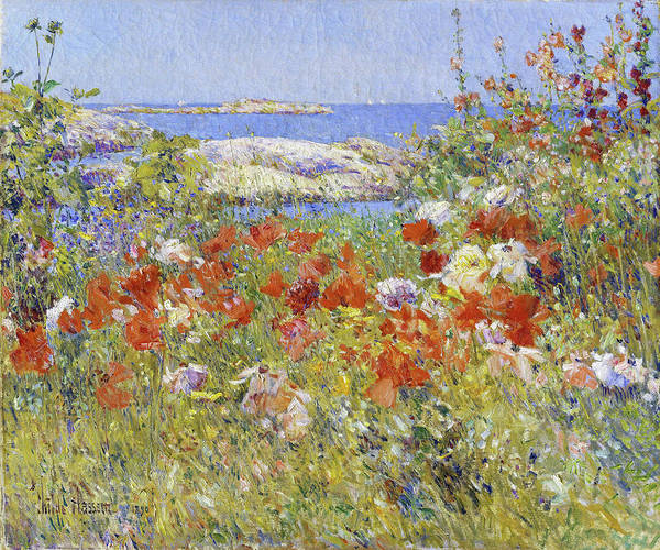 Wall Art - Painting - Celia Thaxter's Garden - Digital Remastered Edition by Frederick Childe Hassam