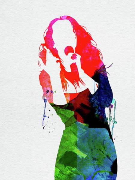 Rock Mixed Media - Celine Watercolor by Naxart Studio