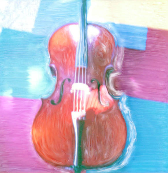 Wall Art - Digital Art - Cello by Claire Rydell