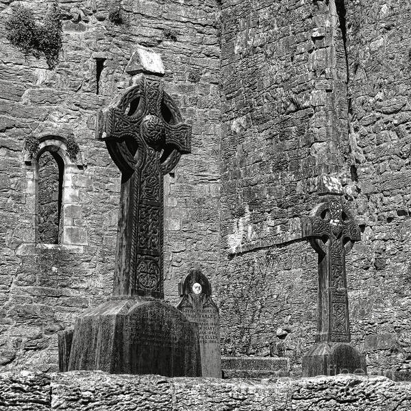 Photograph - Celtic Cross At Cong Abbey by Olivier Le Queinec