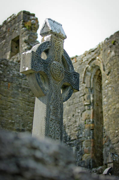 Photograph - Celtic Cross In Ireland by Mark Duehmig