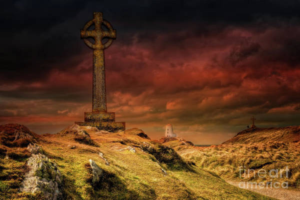 Photograph - Celtic Cross Llanddwyn Island by Adrian Evans