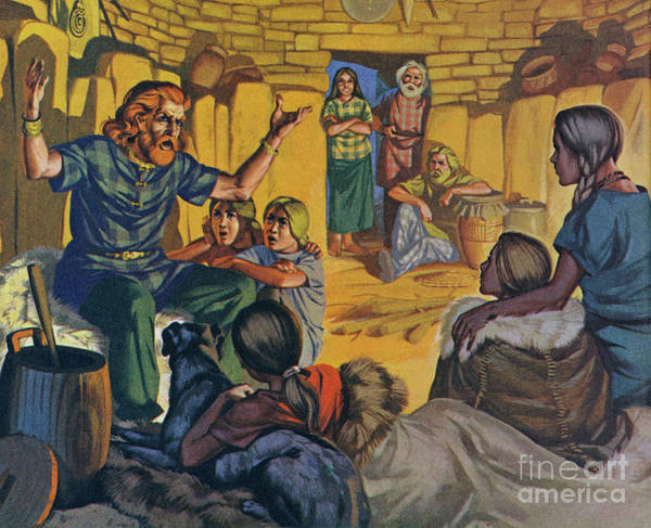 Wall Art - Painting - Celtic Home In Britain, Circa 500 Bc by Angus McBride