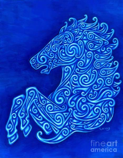Fantasy Horse Wall Art - Painting - Celtic Horse by Rebecca Wang