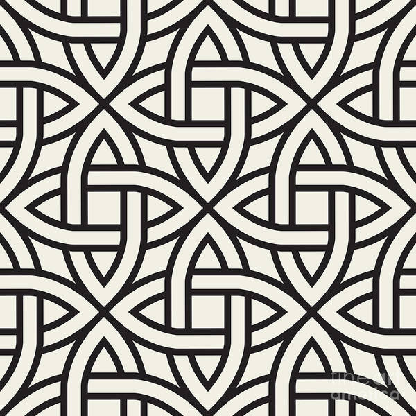 Wall Art - Digital Art - Celtic Seamless Pattern. Abstract by Curly Pat