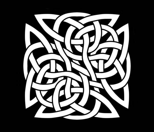 Drawing - Celtic Shield Knot 2 by Joan Stratton