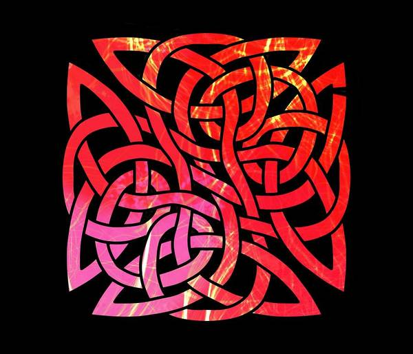 Drawing - Celtic Shield Knot 3 by Joan Stratton