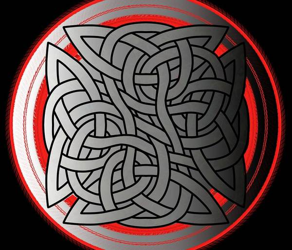 Drawing - Celtic Shield Knot 4 by Joan Stratton