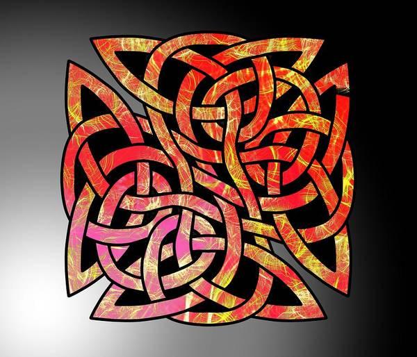 Digital Art - Celtic Shield Knot 6 by Joan Stratton