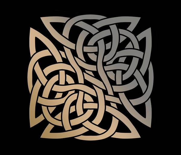 Drawing - Celtic Shield Knot 8 by Joan Stratton