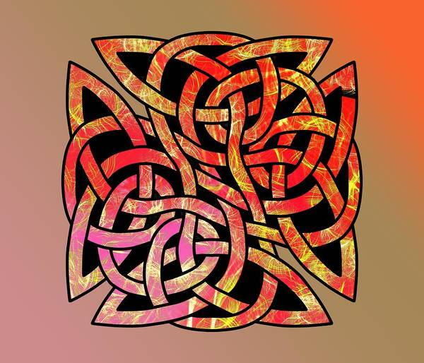 Drawing - Celtic Shield Knot 9 by Joan Stratton