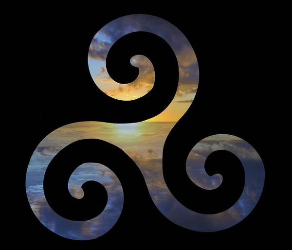 Drawing - Celtic Spiral 4 by Joan Stratton