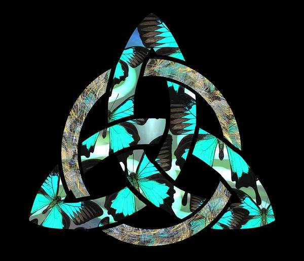 Drawing - Celtic Triquetra Or Trinity Knot Symbol 2 by Joan Stratton