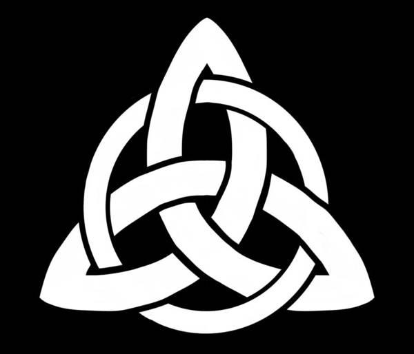 Crone Wall Art - Digital Art - Celtic Triquetra Or Trinity Knot Symbol 5 by Joan Stratton
