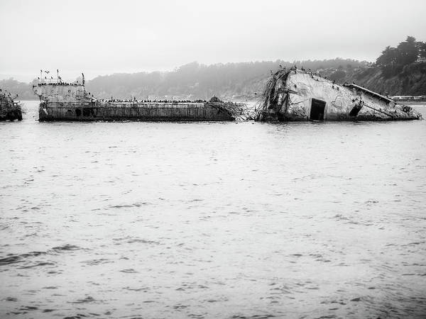 Wall Art - Photograph - Cement Ship Detail by Steve Spiliotopoulos