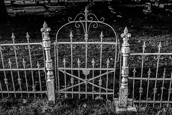 Photograph - 054 - Cemetery Gate by David Ralph Johnson