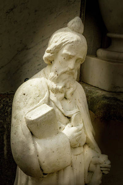 Photograph - Cemetery Statue by Jean Noren